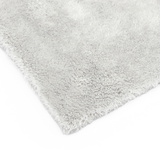 The Rag Company Eagle Edgeless 500 16 x 16 Plush Microfiber Towel - Light Grey