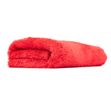 The Rag Company Eagle Edgeless 500 16 x 16 Plush Microfiber Towel - Red