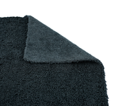 The Rag Company Creature Edgeless 16 x 16 70/30 All Purpose Microfiber Towel - Black