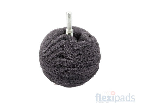 Flexipads 3-Inch Grey Ultra Fine Metal Scruff Ball