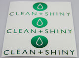Clean and Shiny Green Chrome Cut Vinyl Stickers - 150mm