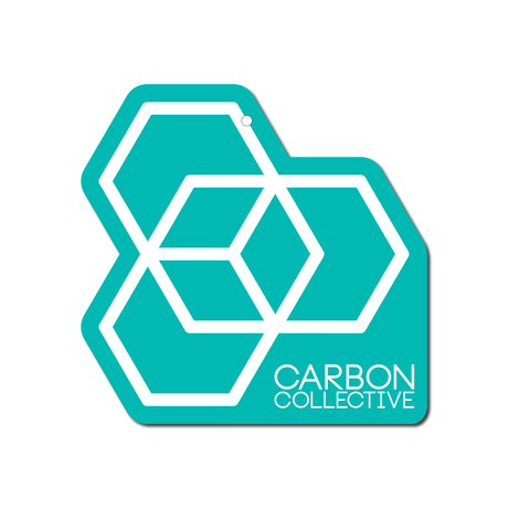 Carbon Collective Hanging Air Freshener - Tuscan Leather (Teal)