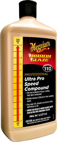 Meguairs M110 Mirror Glaze Ultra Pro Speed Compound 946ml