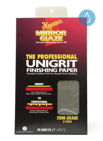 Meguiars Unigrit Finishing Paper 2000 Grit (Single Sheet)