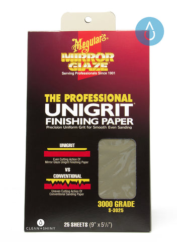 Meguiars Unigrit Finishing Paper 3000 Grit (Single Sheet)
