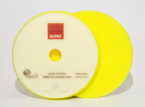 Rupes 140mm Mille Yellow Fine Foam Polishing Pad