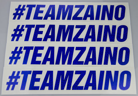 #TEAMZAINO Royal Blue Sequin Cut Vinyl Stickers - Various Sizes