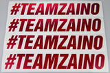 #TEAMZAINO Red Sequin Cut Vinyl Stickers - Various Sizes