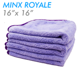 The Rag Company Minx Royale Coral Fleece 16 x 16 70/30 Microfiber Towel - Lavender (3-Pack)