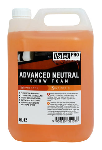 valetpro advanced neutral snow foam 5l clean shiny. Black Bedroom Furniture Sets. Home Design Ideas