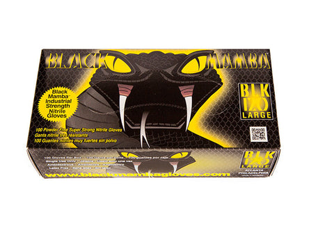 Black Mamba Gloves - 100 Pack - Large
