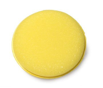 Clean And Shiny Yellow Circular Foam Applicator - 6 Pack