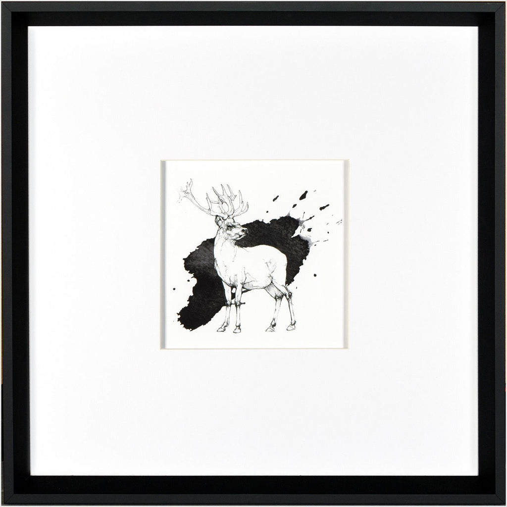 Black & White Standing Stag