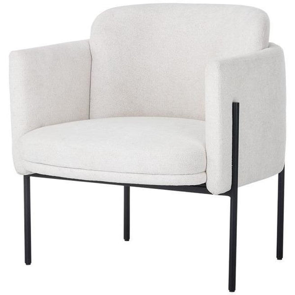 Richie Lounge Chair | Black/Eclipse White