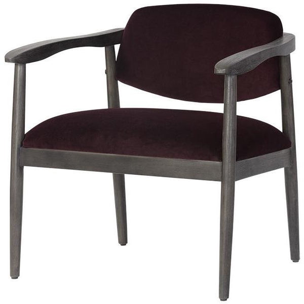 Westley Lounge Chair | Leo Cabernet