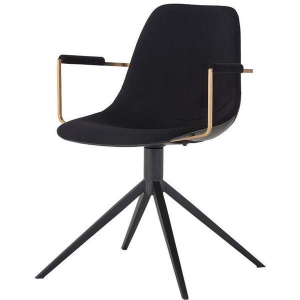 Cashel Swivel Armchair I Bravo Black