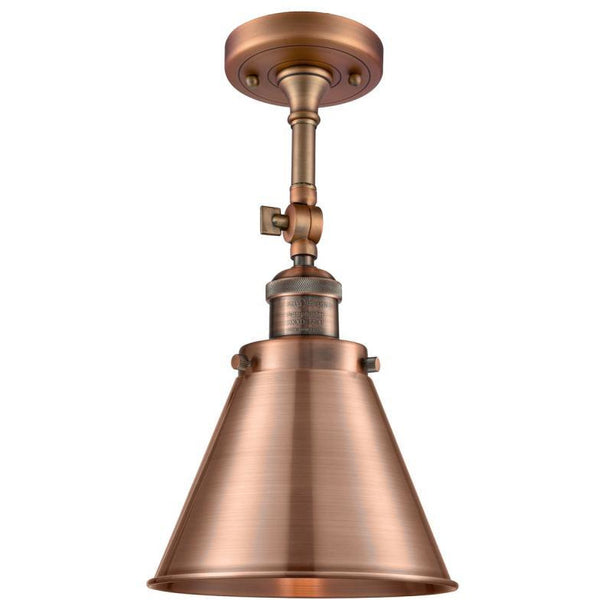 Appalachian Wall Sconce/Semi Flush Mount | Antique Copper