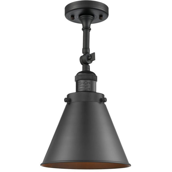 Appalachian Semi Flush Mount/Wall Sconce | Matte Black