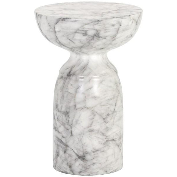 Gahan Outdoor End Table | Marble
