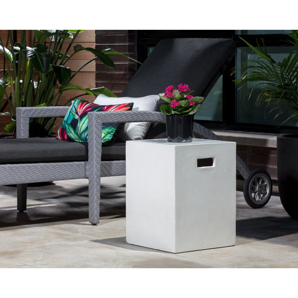 Cayman Outdoor End Table | White