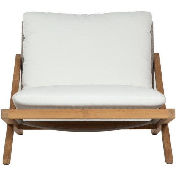 Bali Outdoor Lounge Chair | Natural Regency White