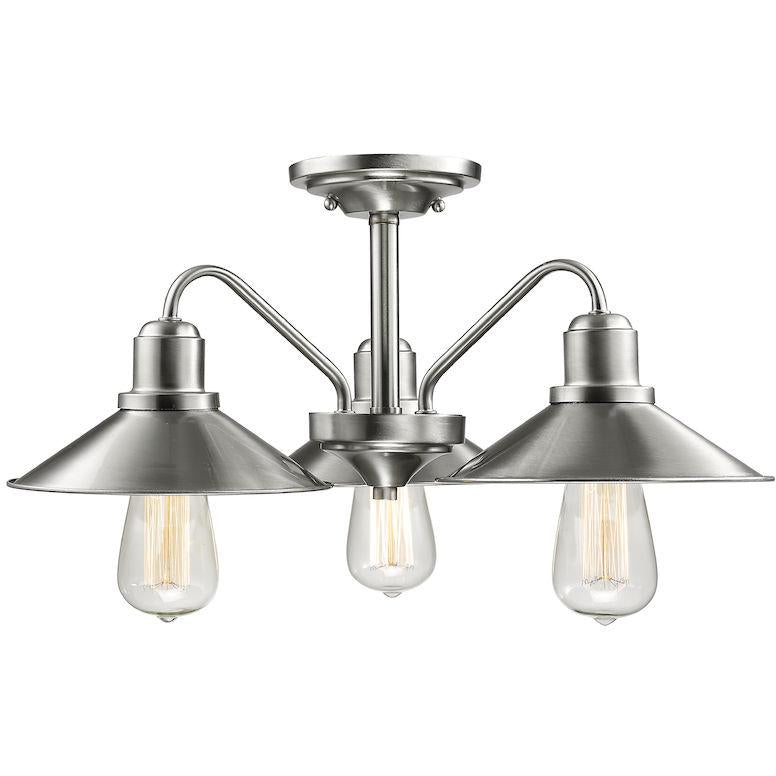 Casa Semi-Flush Mount | Brushed Nickel
