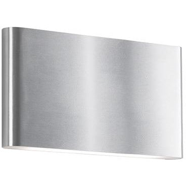 Slate LED Outdoor Wall Sconce | Brushed Nickel (LG)