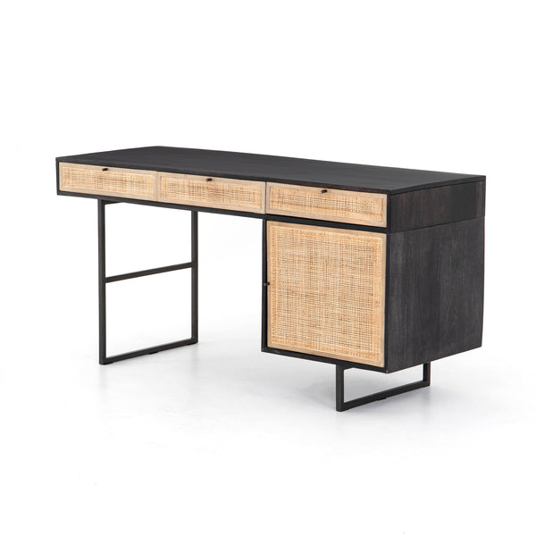 Shale Desk - Black Wash