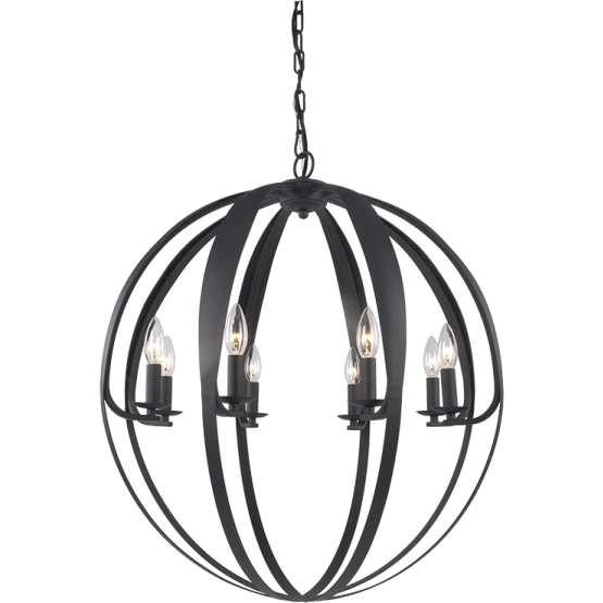 Manchester 8-Light Chandelier | Matte Black
