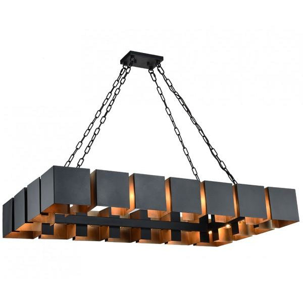 Mattone 18-Light Pendant | Matte Black