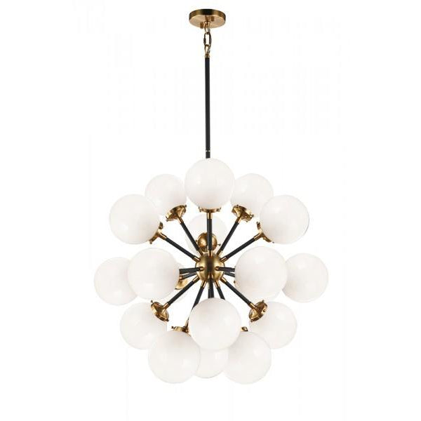 Soleil 18-Light Chandelier | Aged Gold