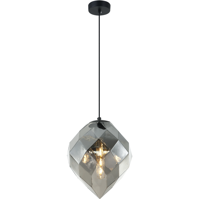 Gemma Pendant | Smoked Glass (Large)