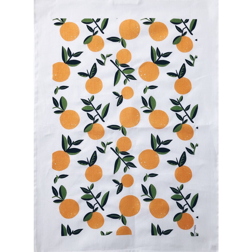 Tea Towel | Citrus Orange