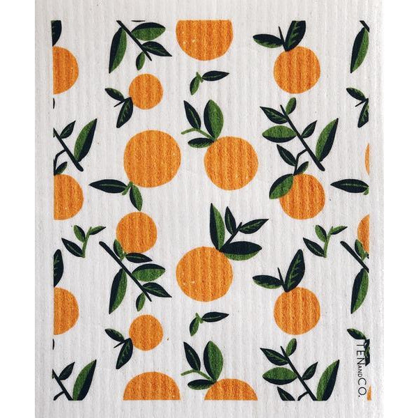 Sponge Cloth Citrus Orange (Set of 2)