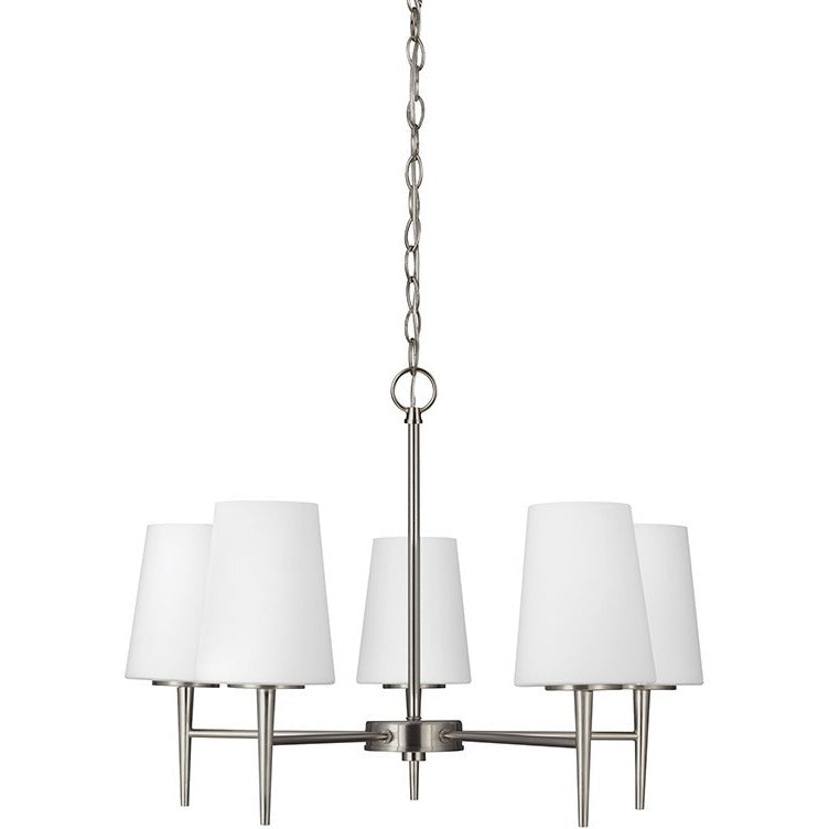 Driscoll 5-Light Chandelier | Brushed Nickel