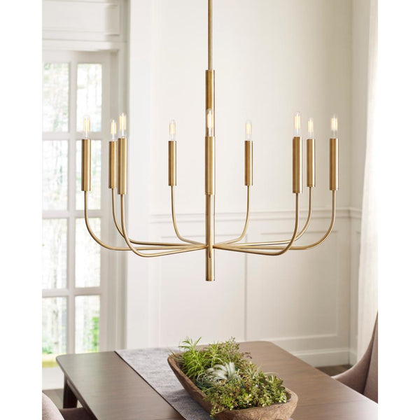Brianna 9-Light Chandelier | Burnished Brass