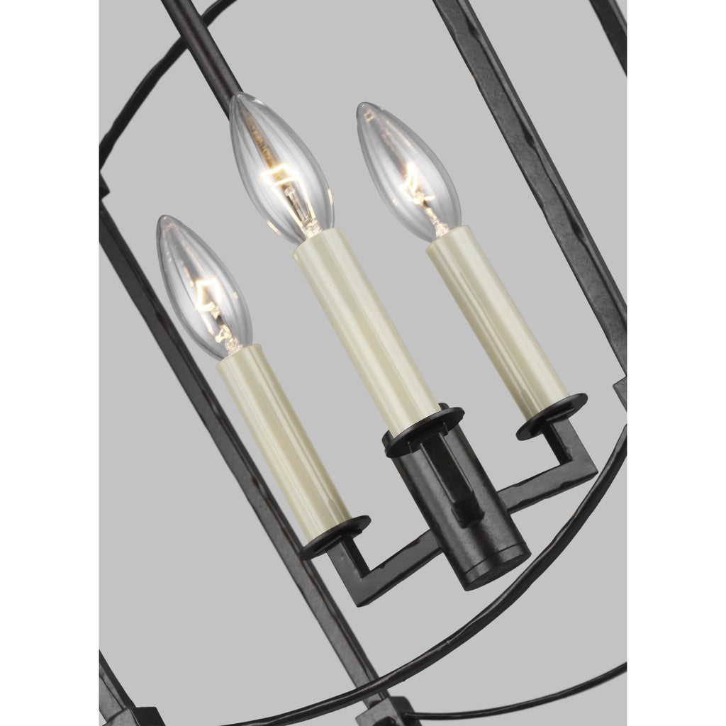 Thayer 3-Light Small Pendant | Steel