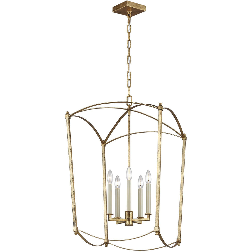 Thayer 5-Light Medium Pendant | Antique Gild