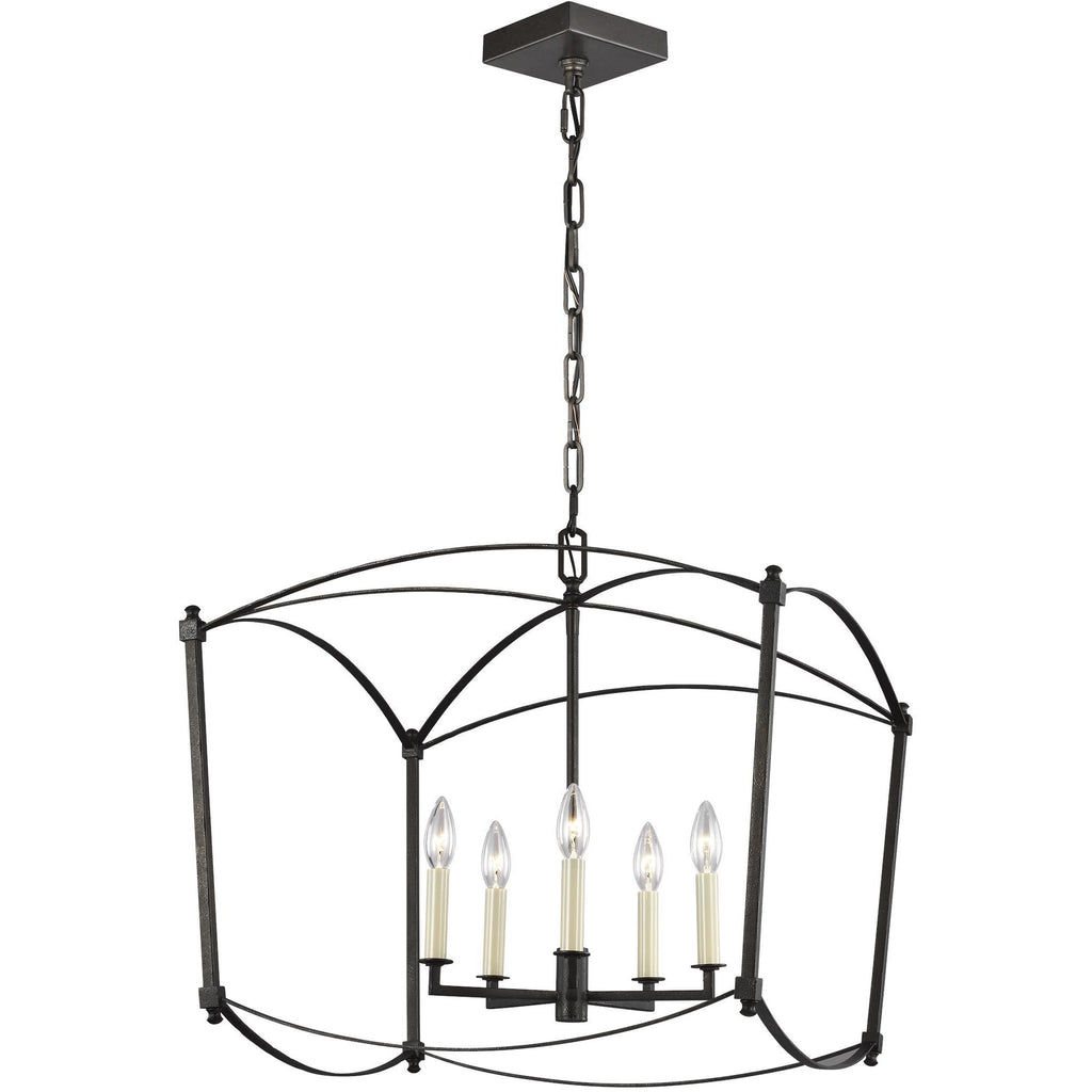 Thayer 5-Light Large Pendant | Steel