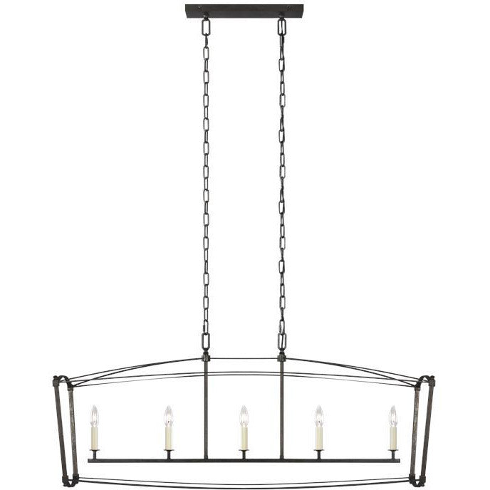 Thayer Linear Large Pendant | Steel