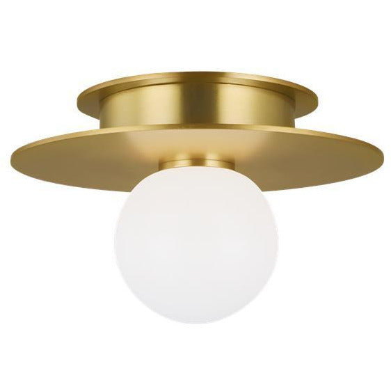 Nodes Small Flush Mount | Burnished Brass