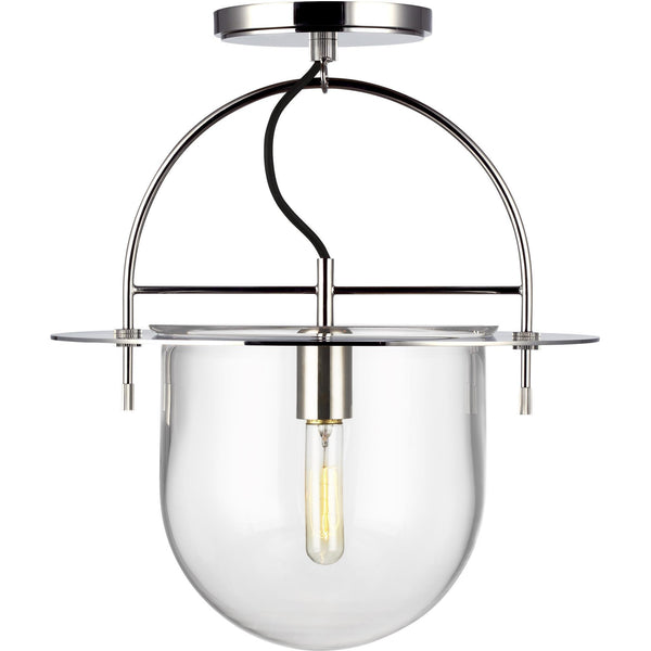 Nuance Semi-Flush Mount (Large) | Polished Nickel