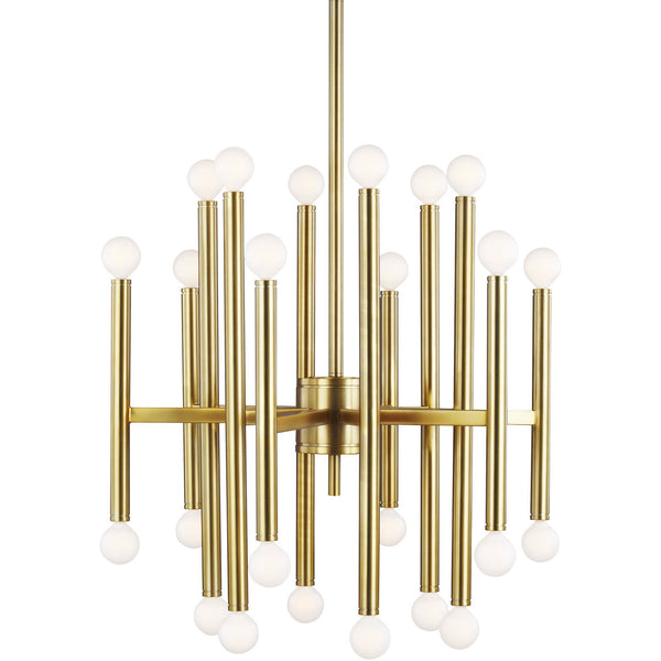 Beckham Modern Medium Chandelier | Burnished Brass