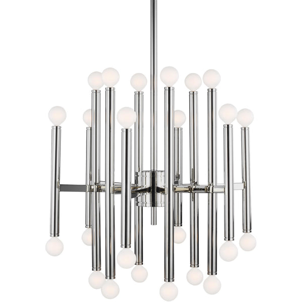 Beckham Modern Medium Chandelier | Polished Nickel