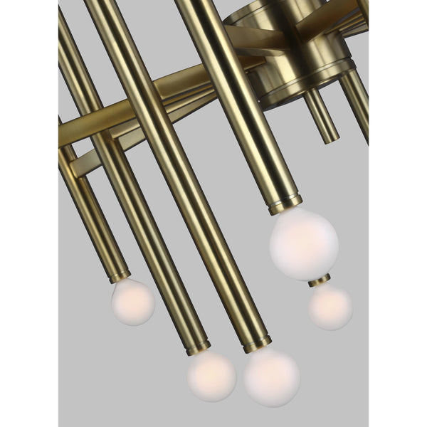 Beckham Modern Large Chandelier | Burnished Brass