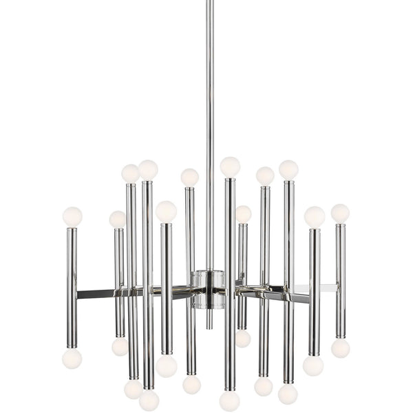 Beckham Modern Large Chandelier | Polished Nickel