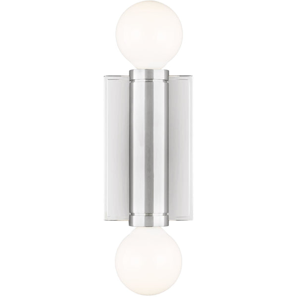 Beckham Double Wall Sconce | Polished Nickel
