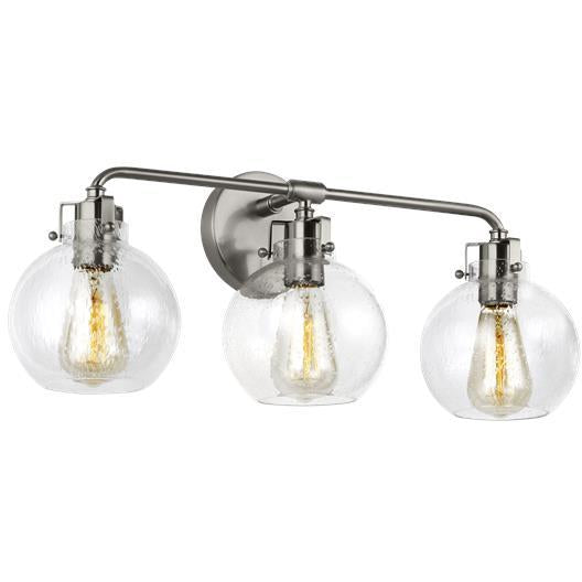 Clara 3-Light Vanity | Satin Nickel