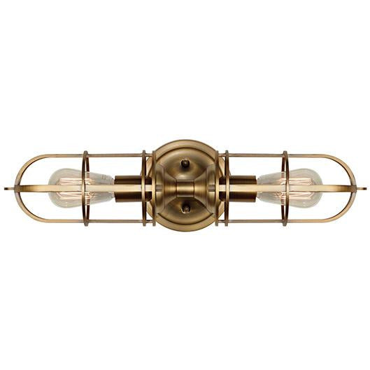 Urban Renewal 2-Light Wall Sconce | Antique Brass