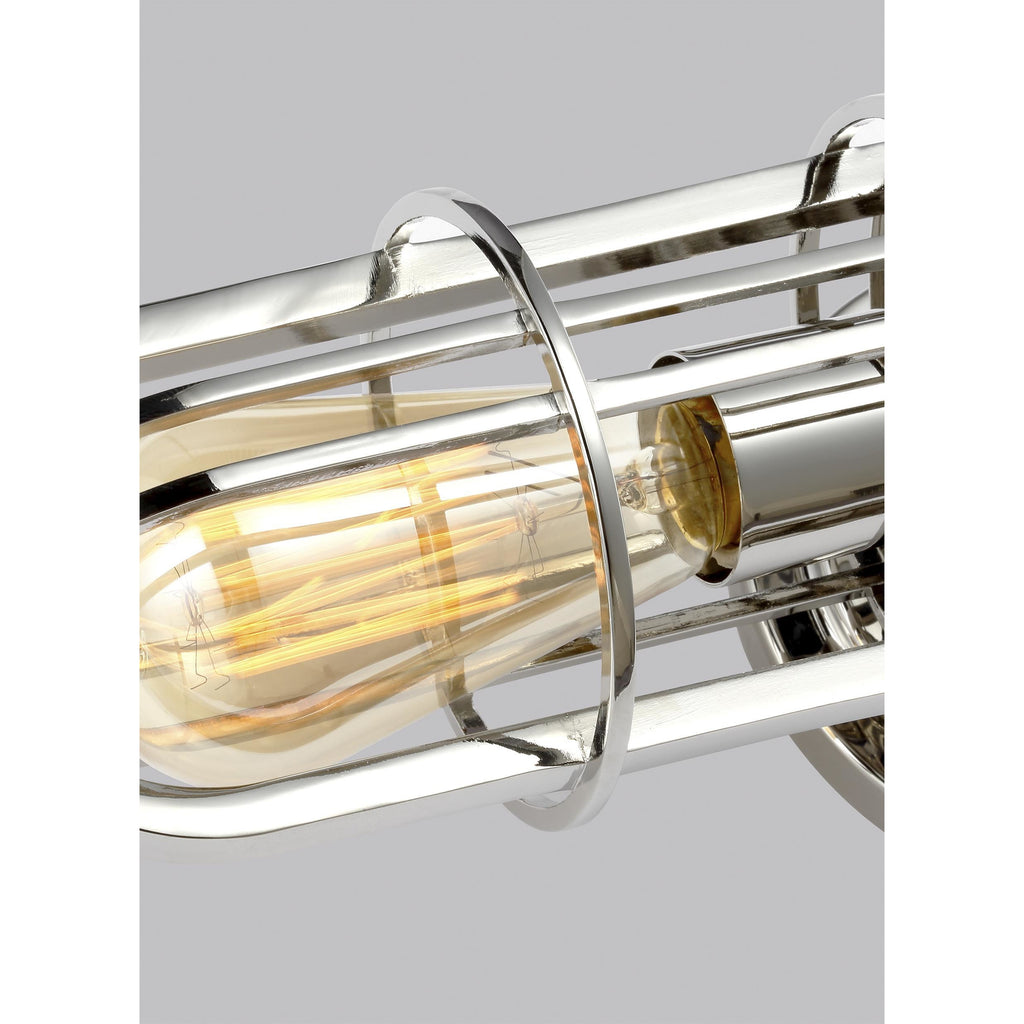 Urban Renewal 2-Light Wall Sconce | Polished Nickel